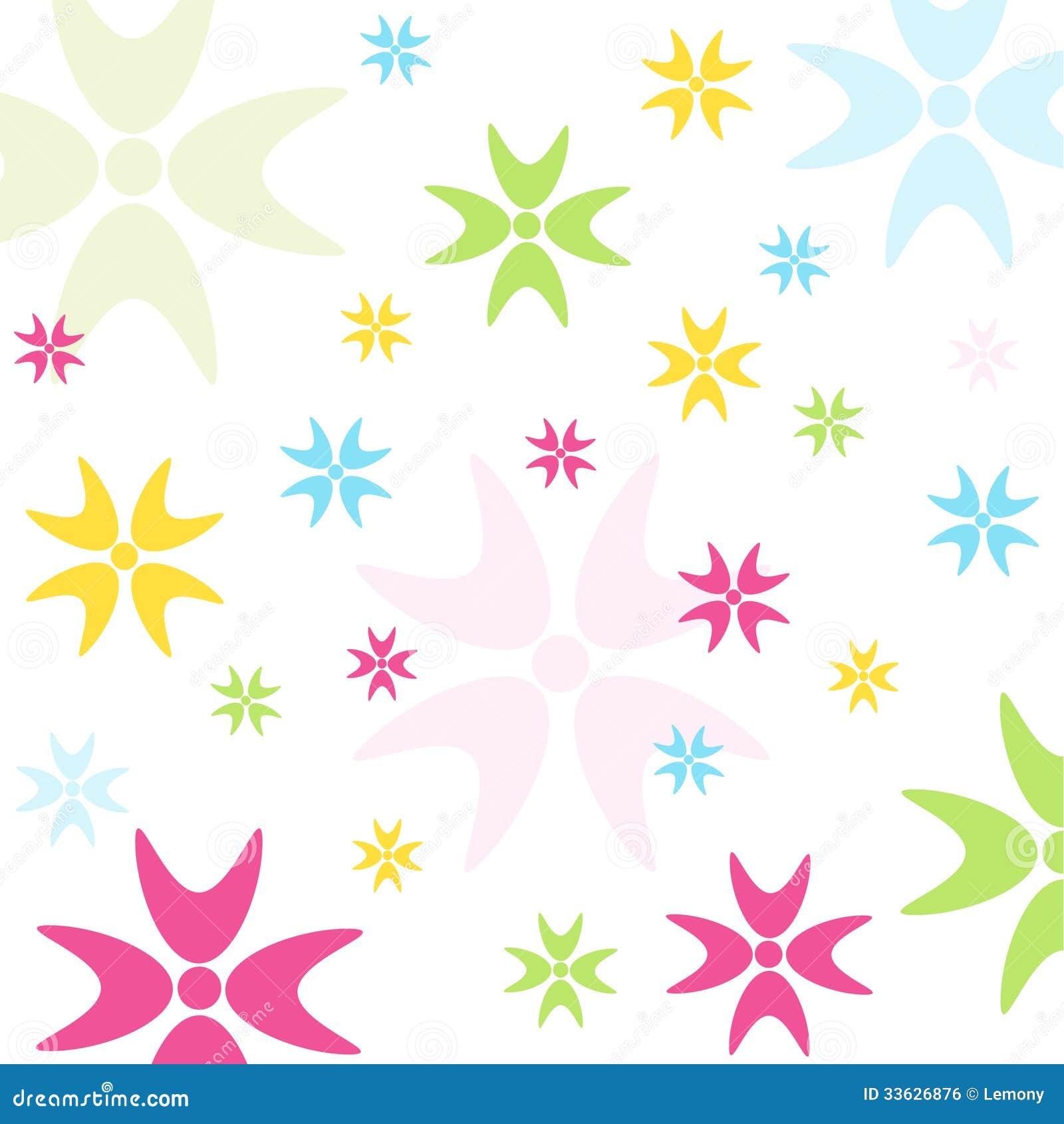 Estampado de flores incons til papel pintado imagen de for Papel pintado estampado
