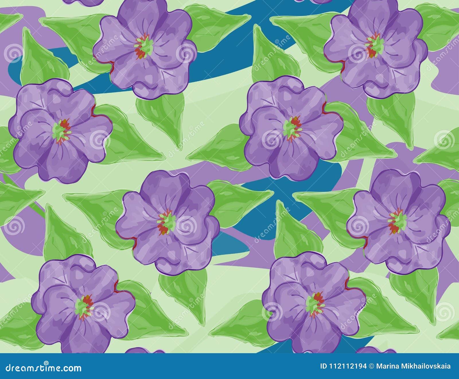 Estampado De Flores Inconsutil Para El Papel Pintado Tela Papel