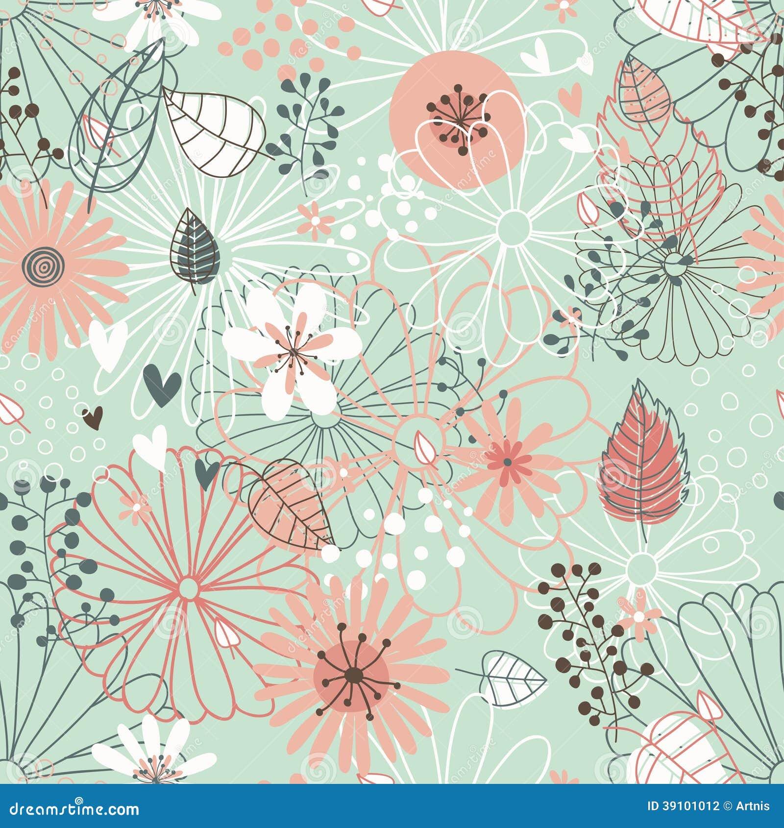 Estampado De Flores Incons 250 Til Textura De Las Flores