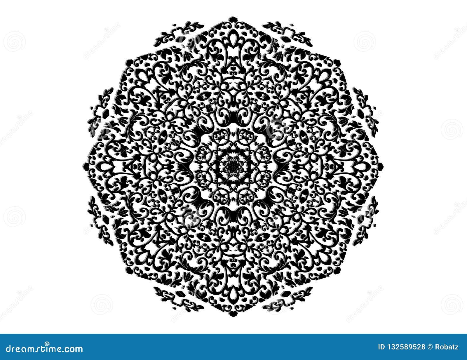 Estampado De Flores De La Decoración De La Mandala Módulos