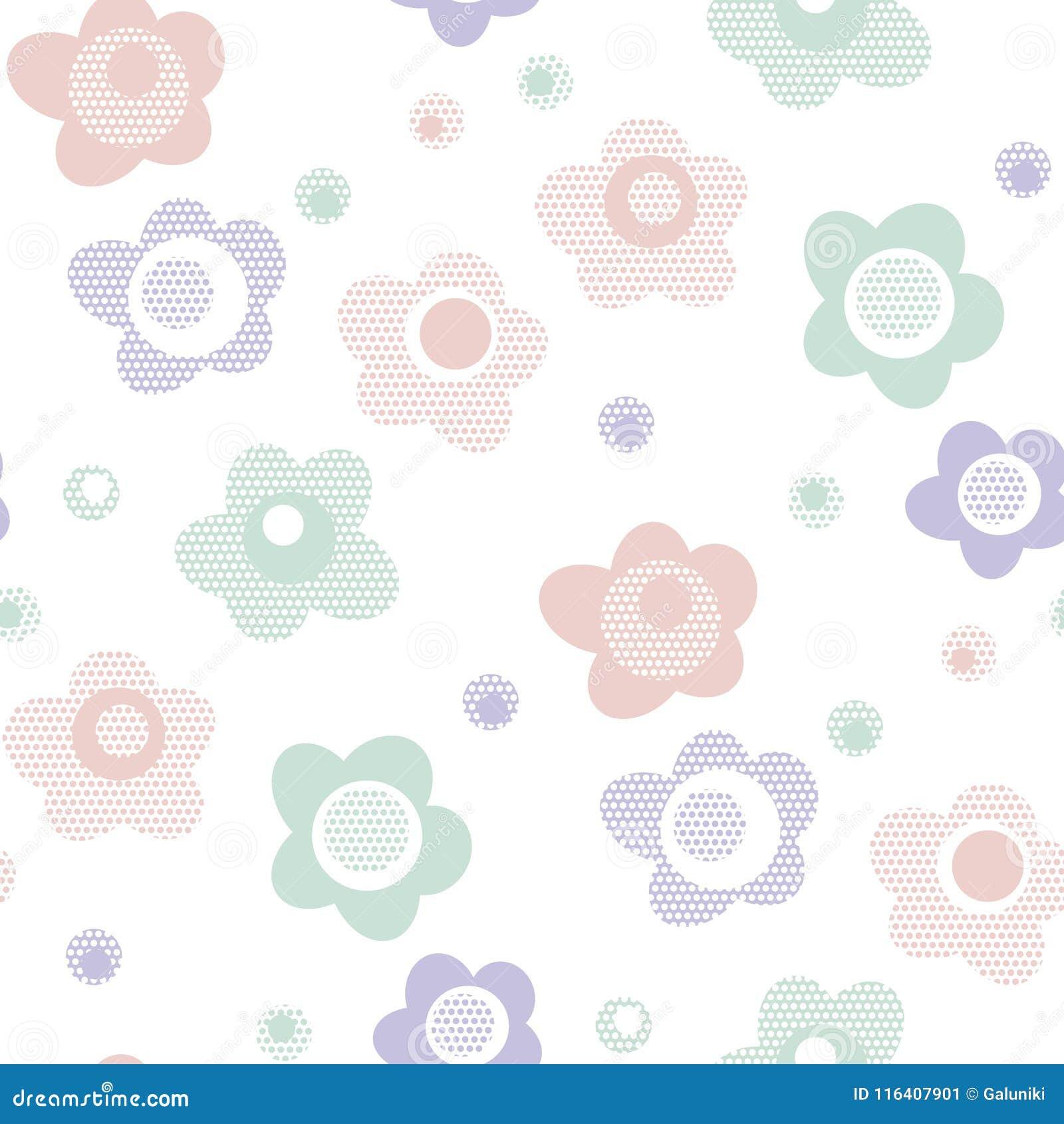 Colores Bebe.Estampado De Flores Lindo Del Estilo Del Bebe En Color En