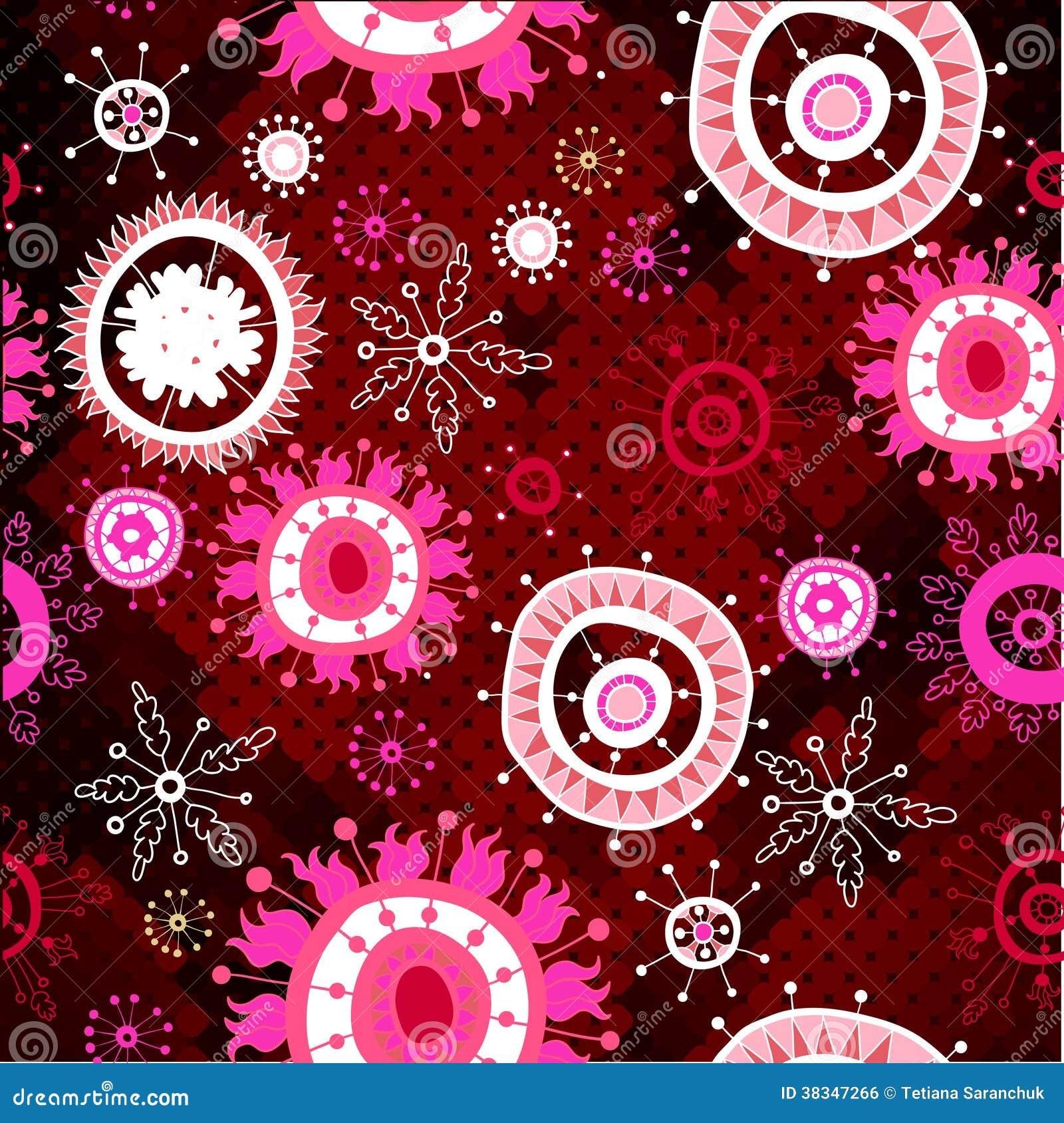 ... similares de ` Estampado de flores rojo en fondo del mosaico