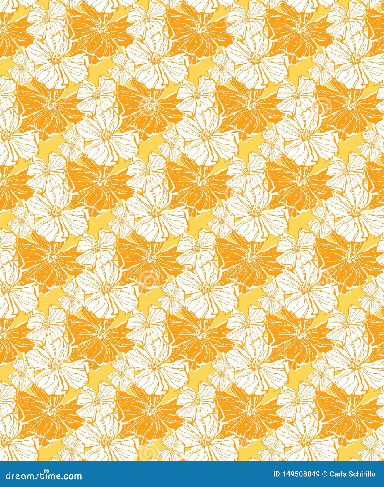Estampado de flores tropical, incons?tiles soleados para las telas y el papel pintado