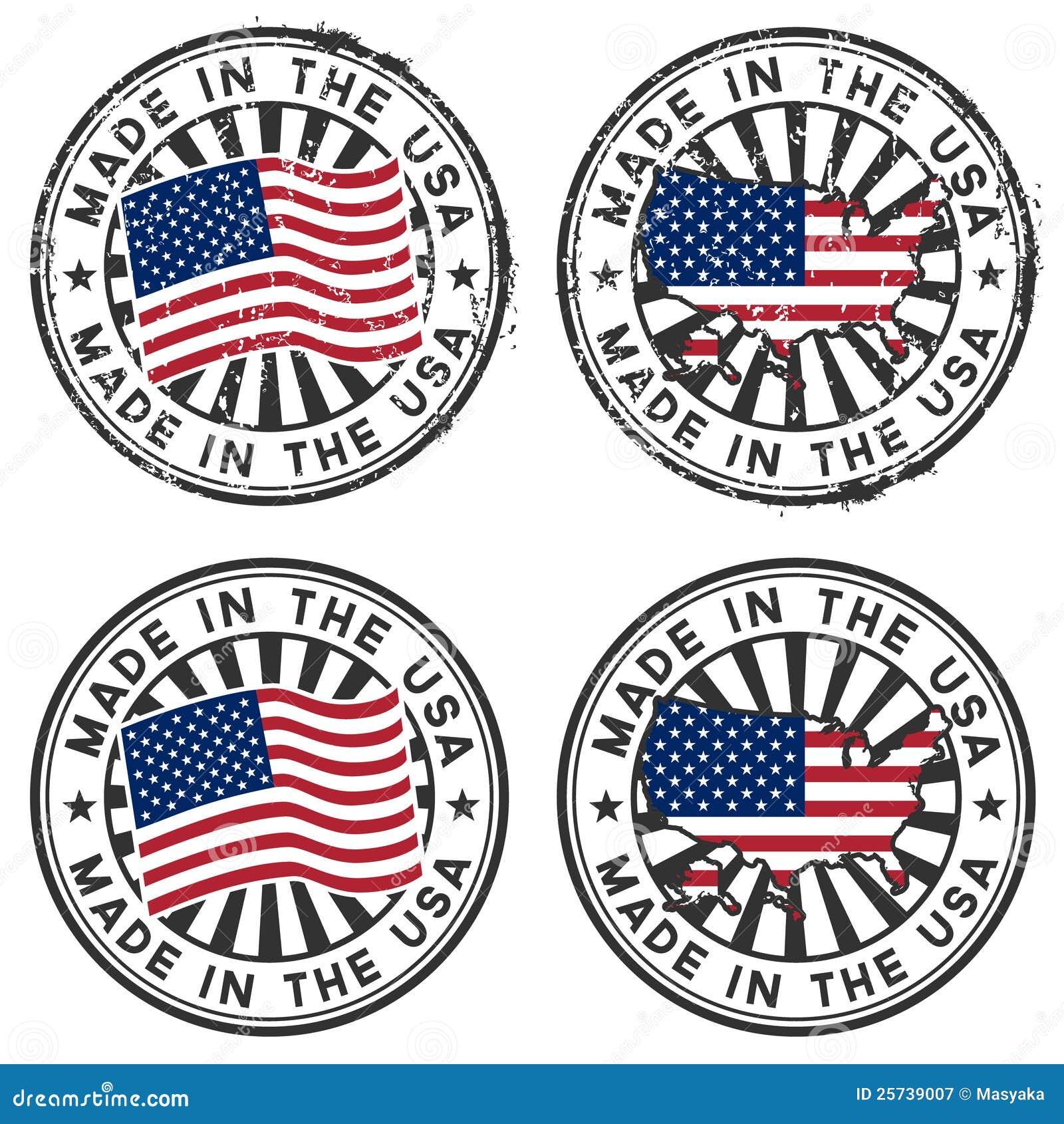 Estampez avec la carte, indicateur des Etats-Unis. Fabriqué aux Etats-Unis.