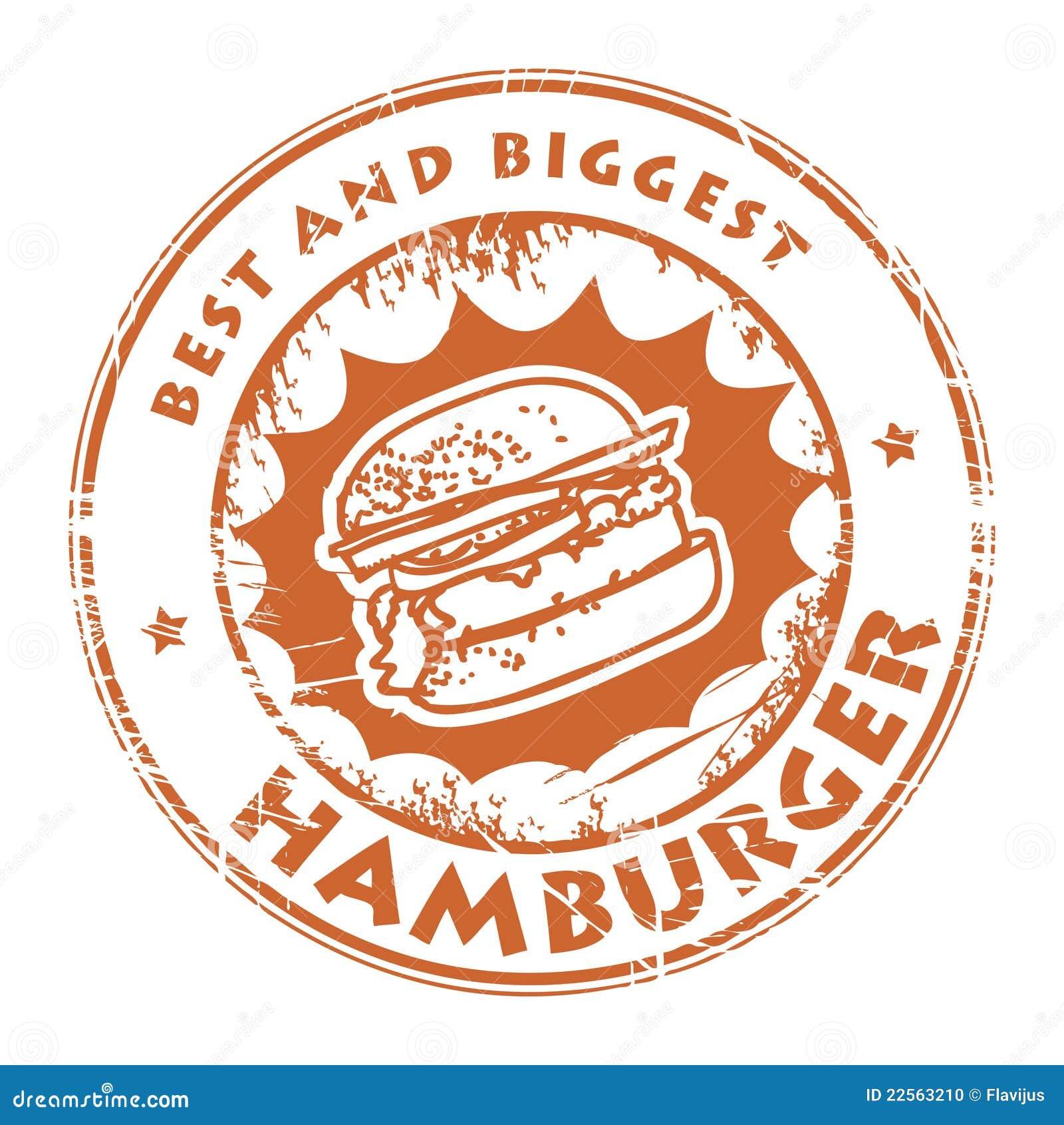 Estampille avec l hamburger