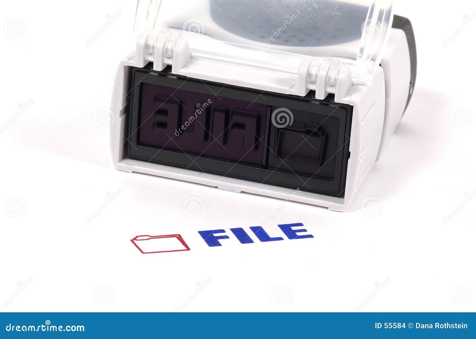 Download Estampille de fichier photo stock. Image du bureau, documents - 55584