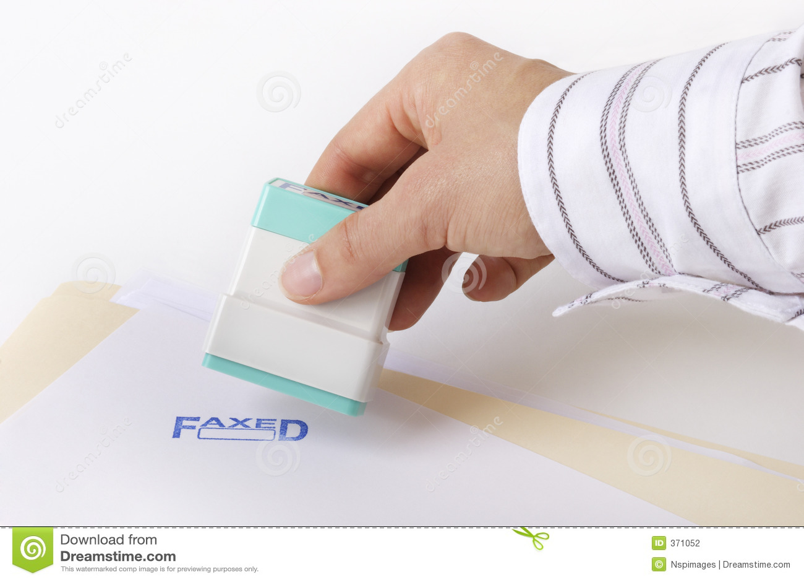 Estampille faxée
