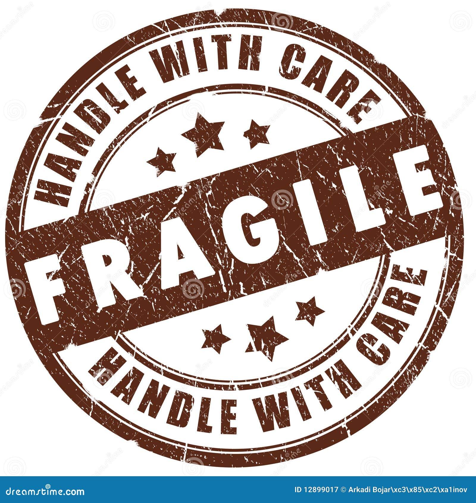 Estampille fragile