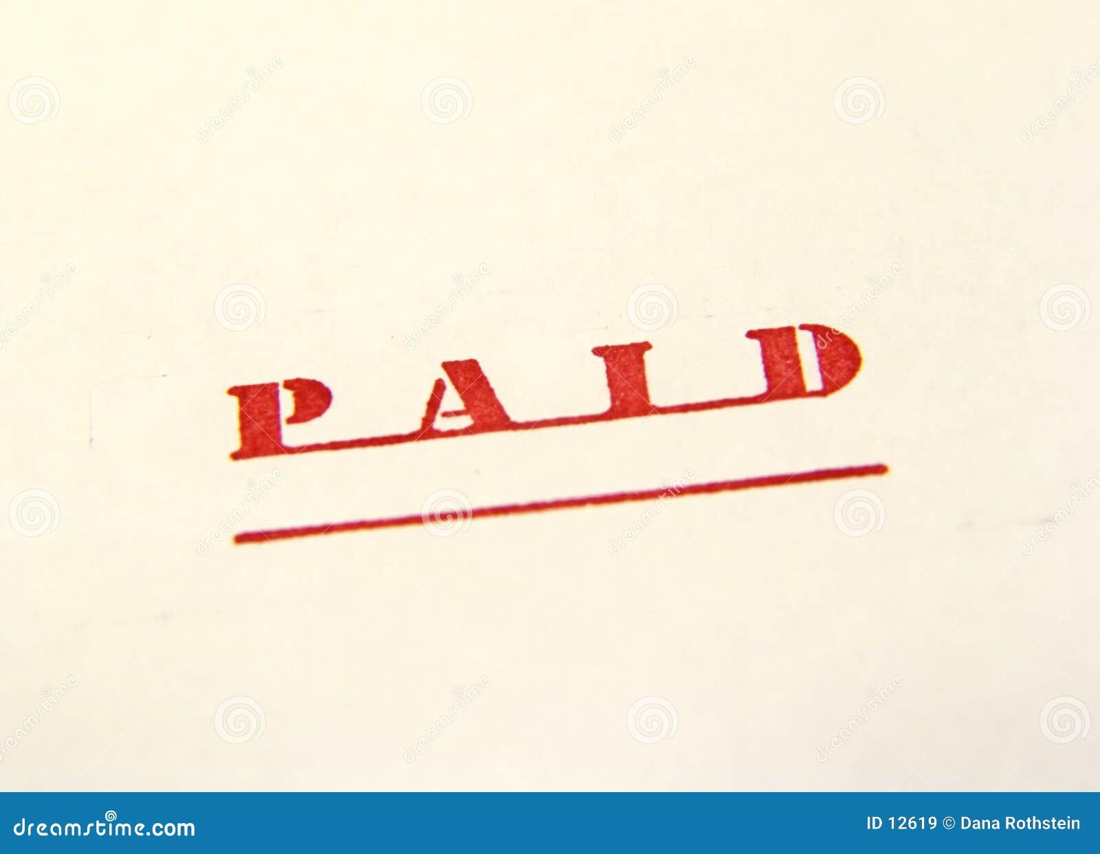 Estampille payée 2