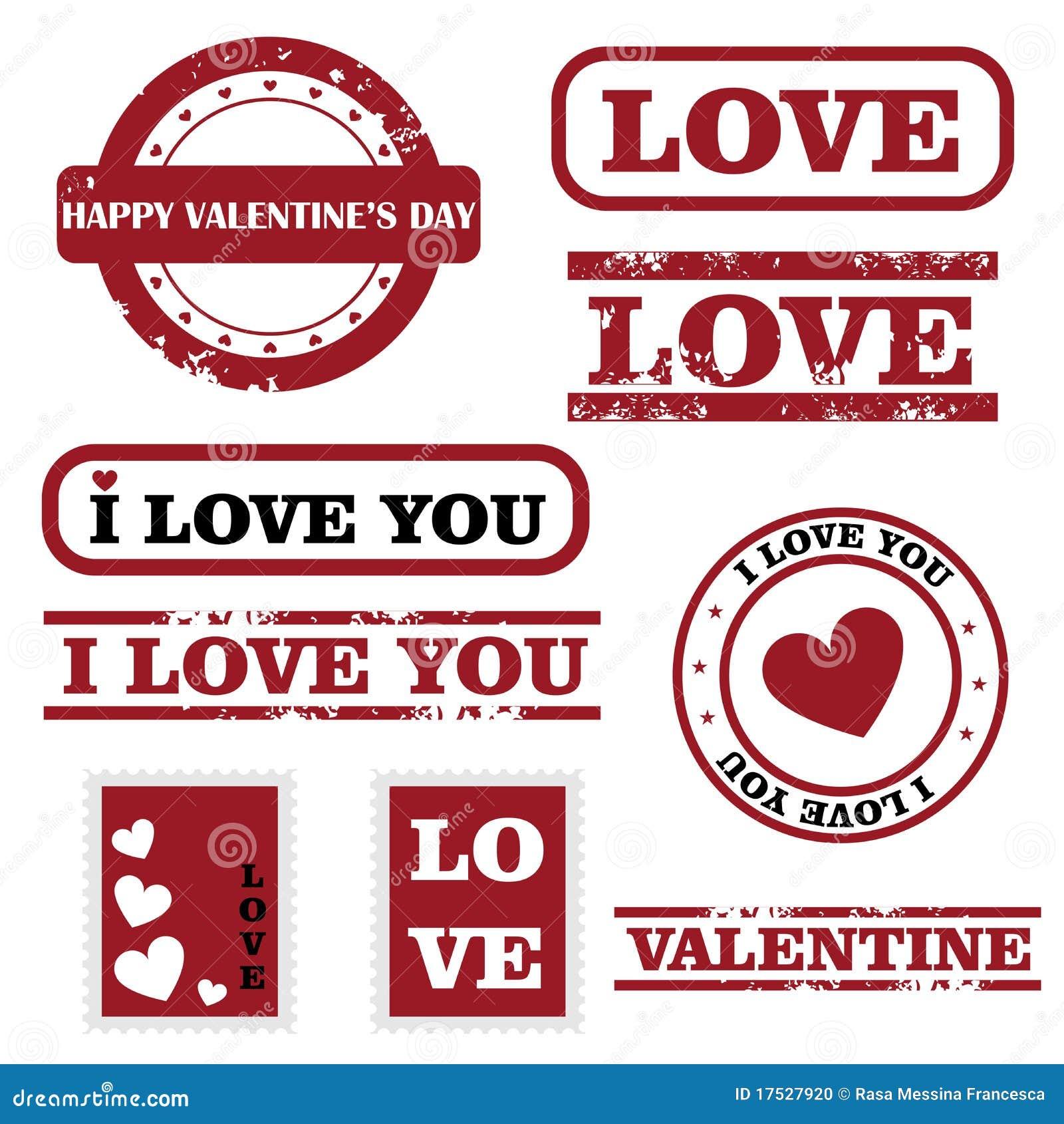 Estampilles de Valentine