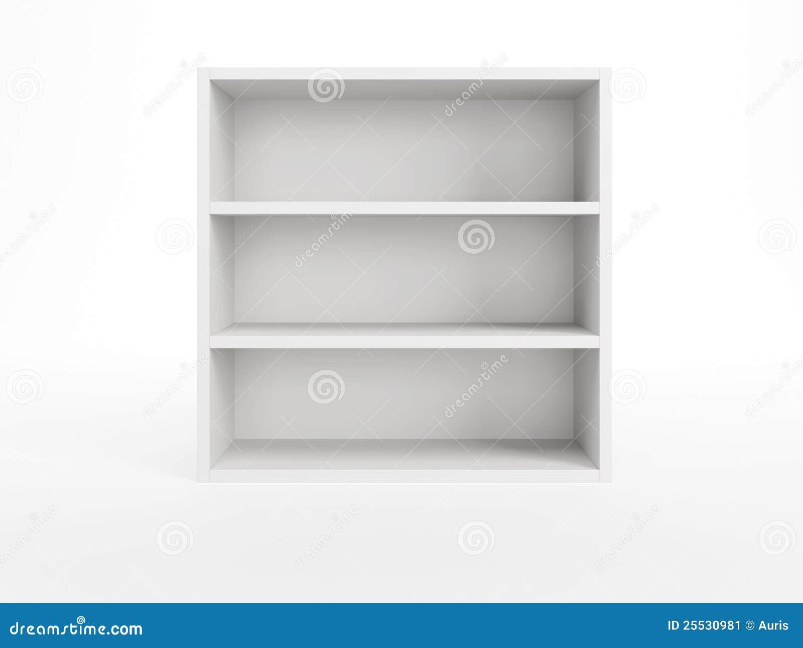 Estante para libros blanco imagen de archivo imagen - Estantes para pared ...