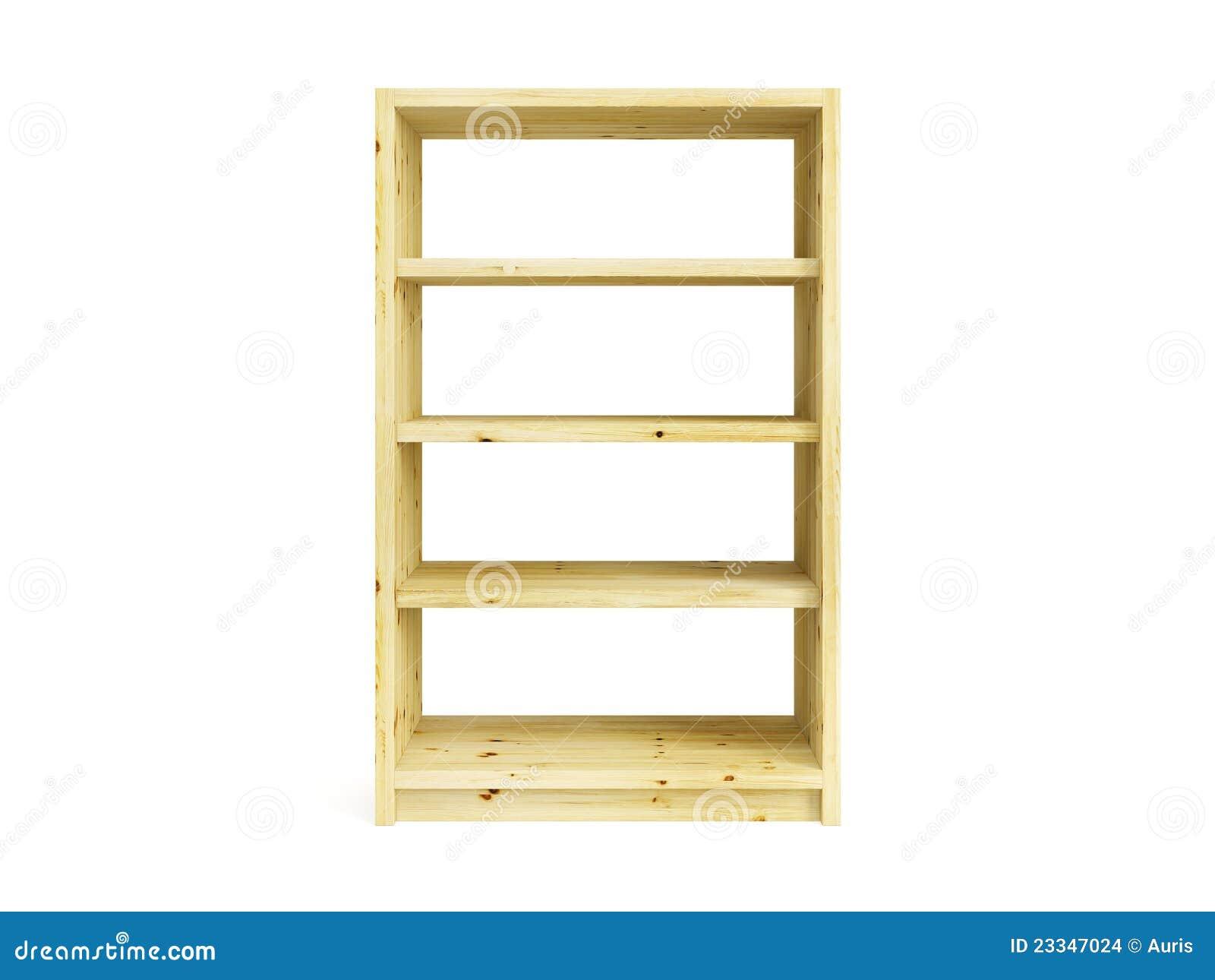 Estante para libros de madera aislado imagenes de archivo - Estantes de madera para pared ...