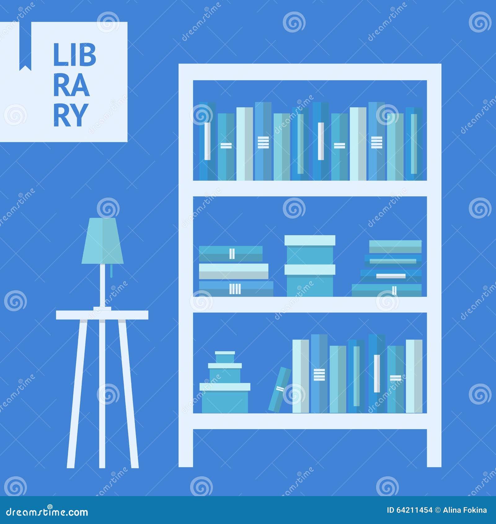 Estante para libros plano