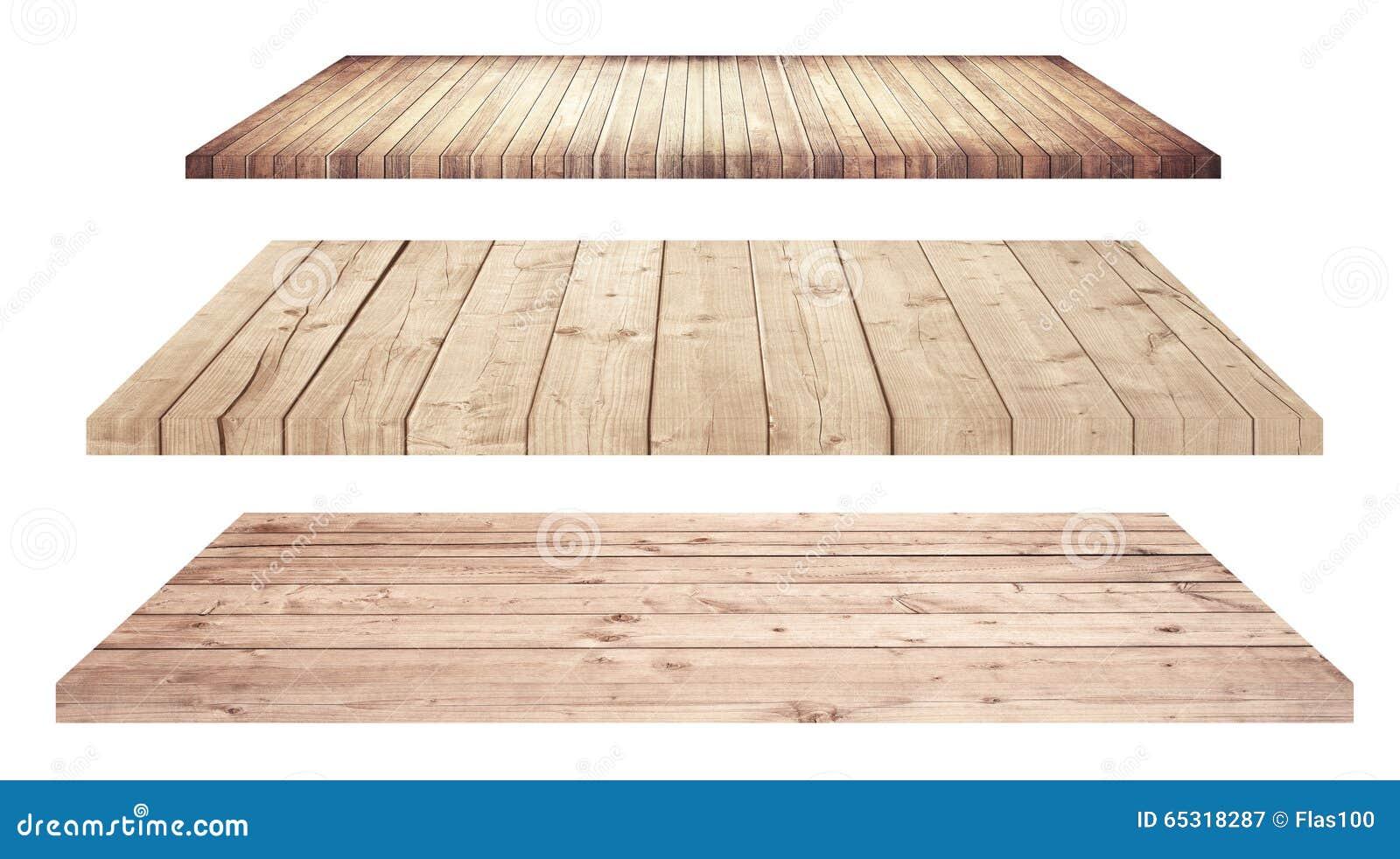 Estantes o tablero de la mesa de madera aislados en blanco - Tablero madera ...