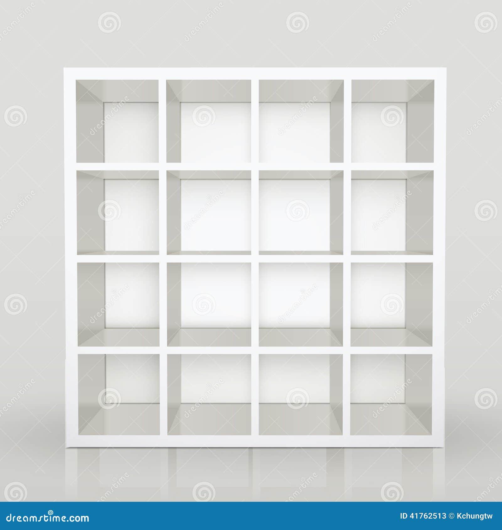 estantes vacos biblioteca en blanco del estante para libros fotos de archivo