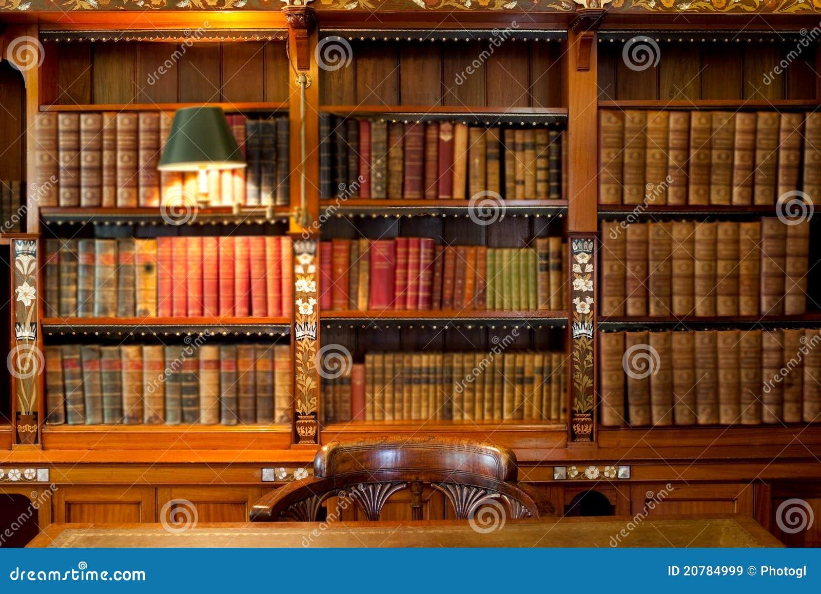 Estantes y vector de la biblioteca