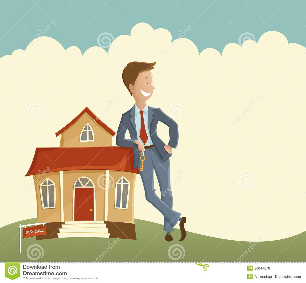 Estate agent and house stock photo image of mansion for Clipart estate