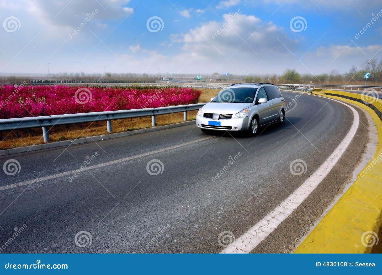 Estate car on the highway