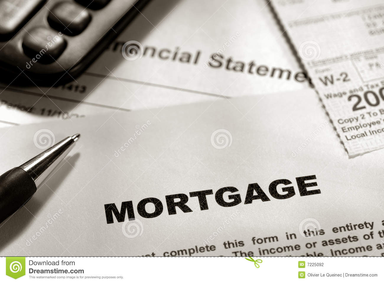 Estate form mortgage real