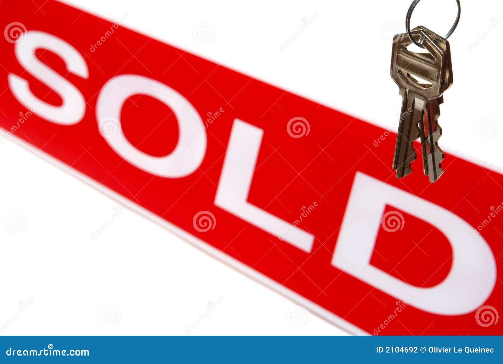Estate house keys real sign sold