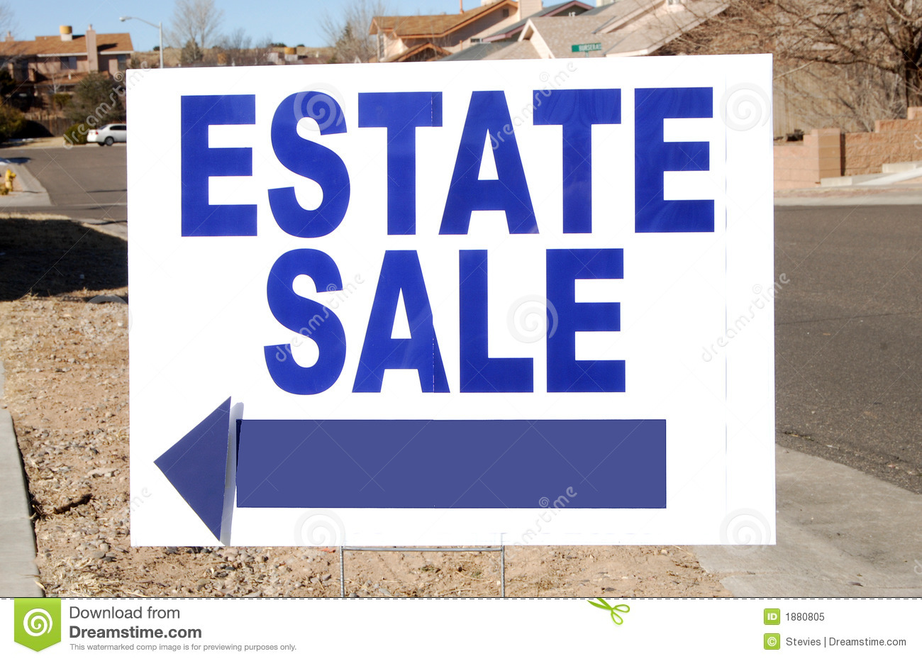 Estate Sale Sign Royalty Free Stock Photo Image 1880805