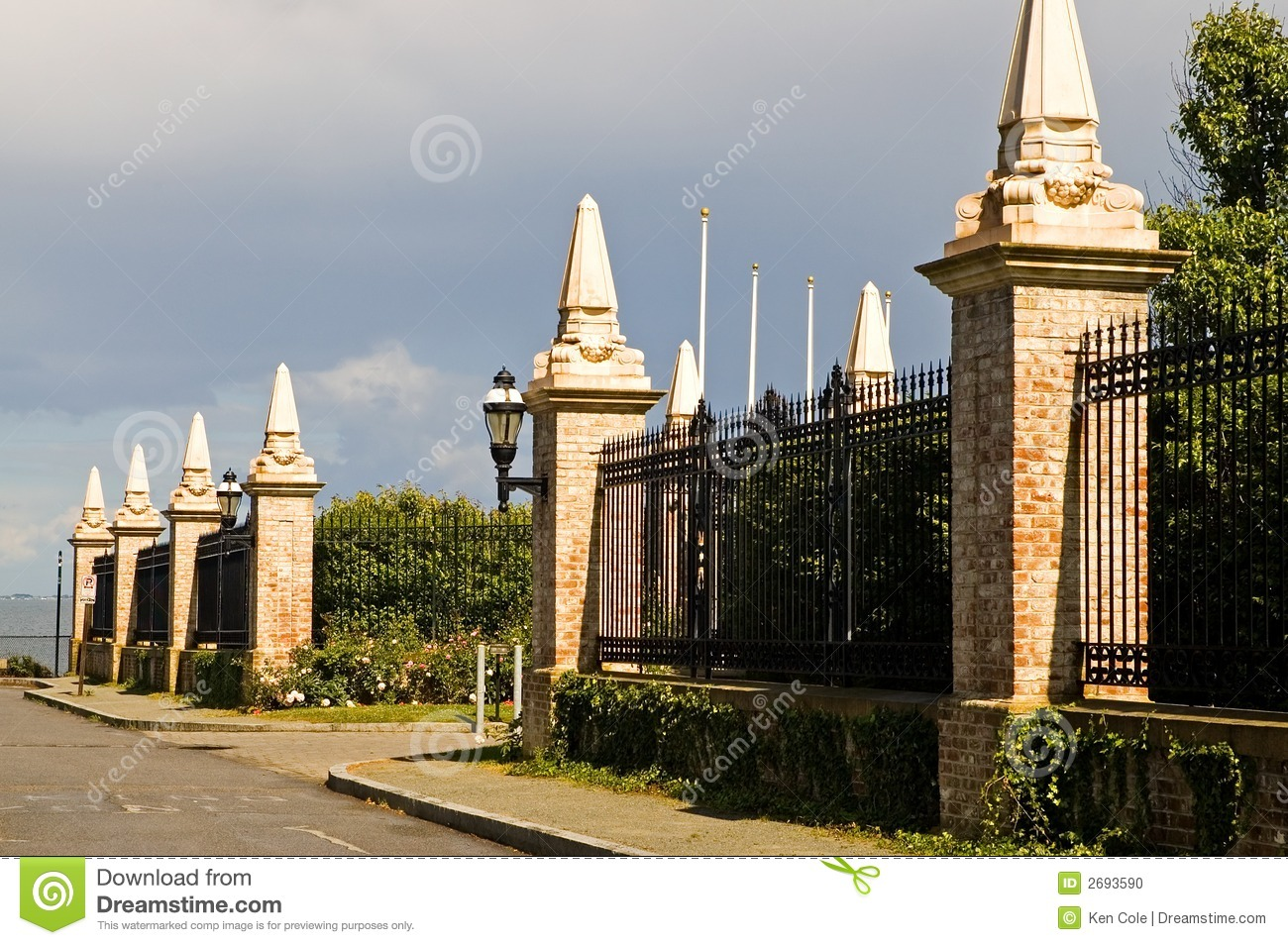 Estate Security Fence Editorial Image Image Of Protecting