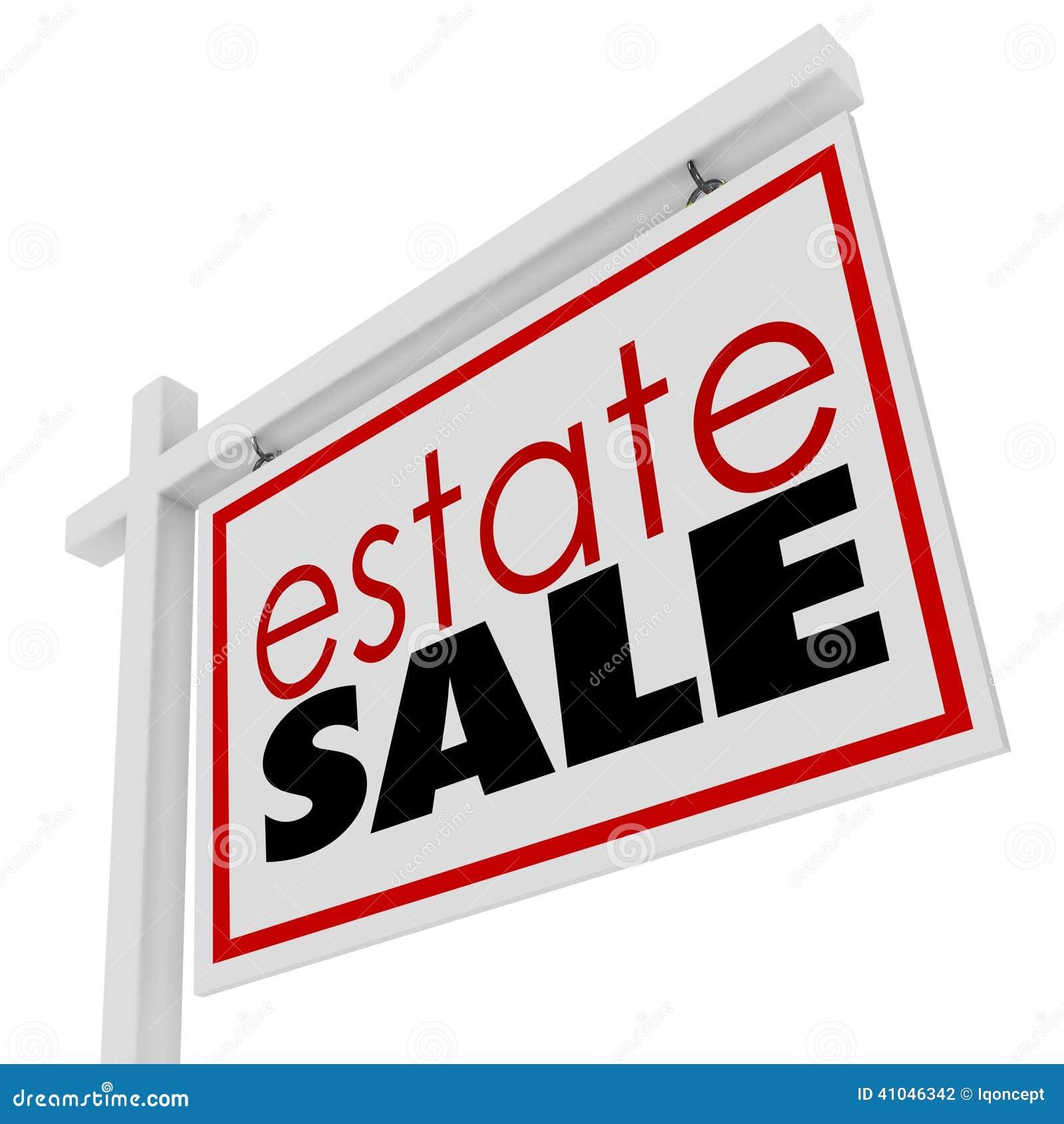 Estate Sign Homeowner Selling Possessions Inside House