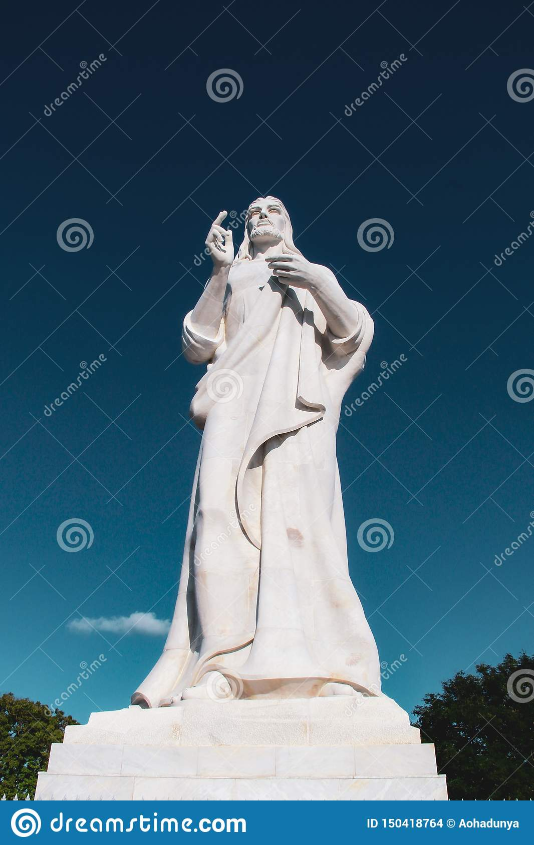 Estatua de Cristo en La Habana, Cuba