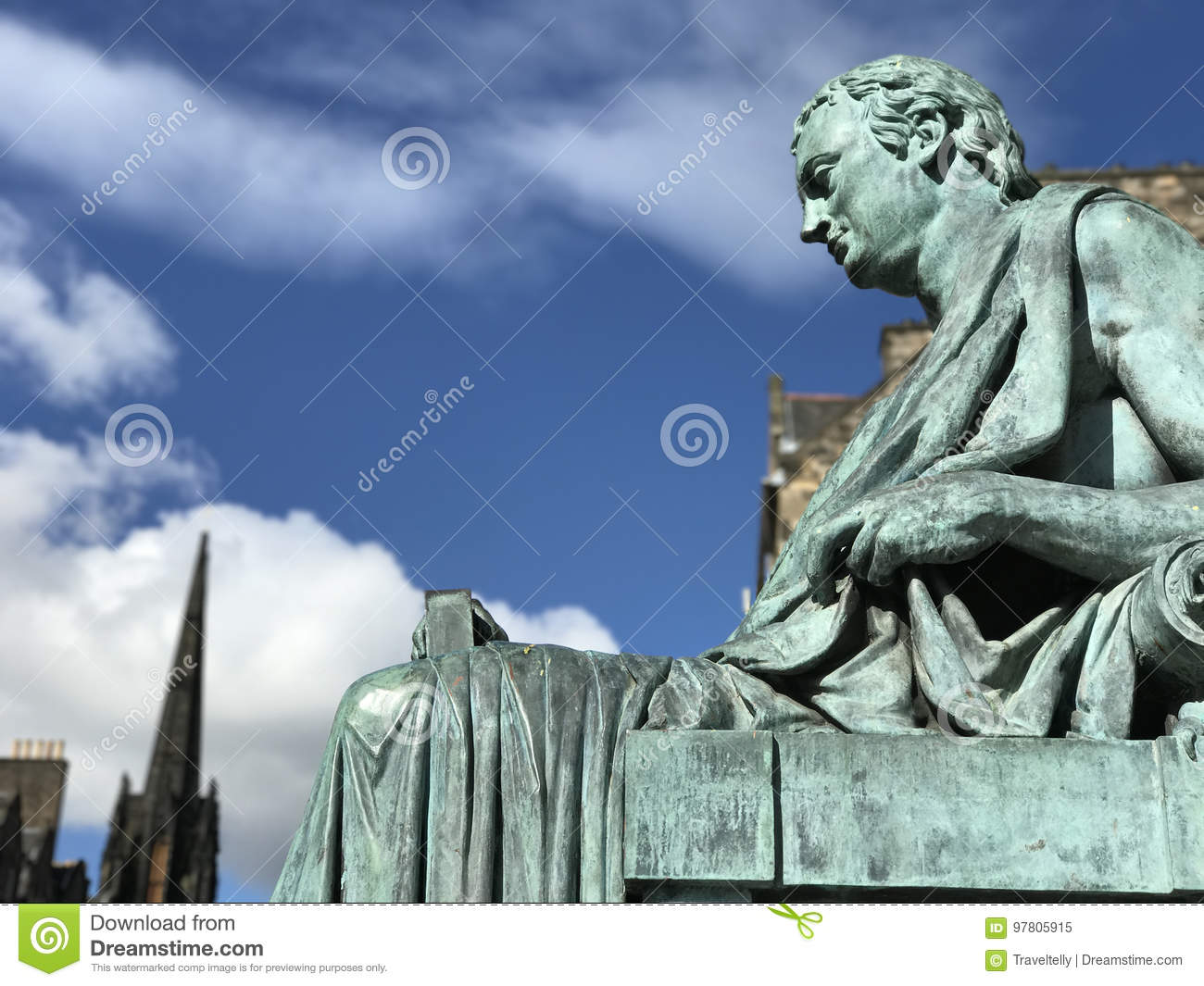 Estatua de David Hume