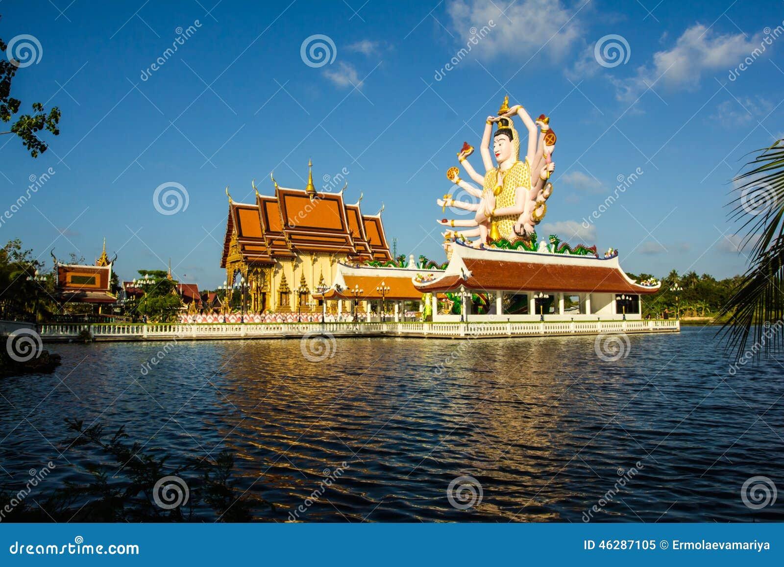 Estatua de dieciocho brazos Buda Pieza del templo