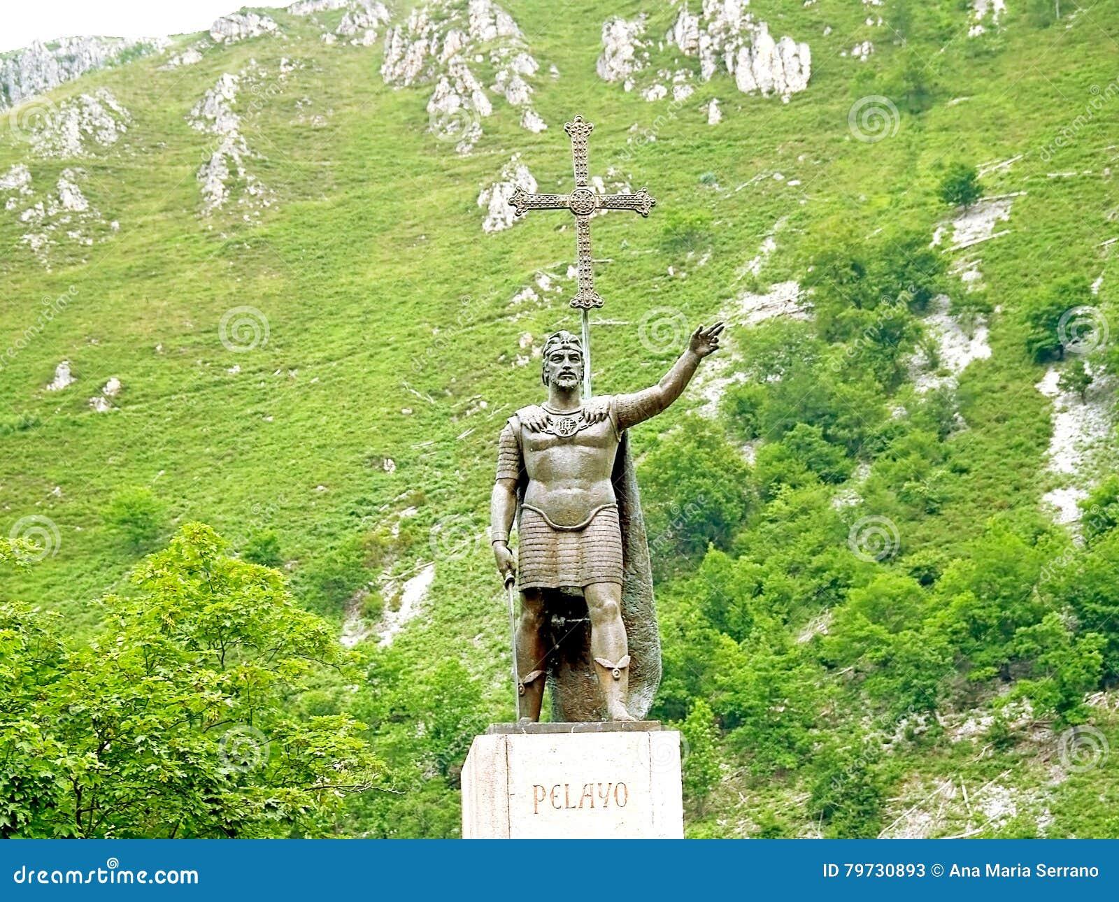 Estatua de Don Pelayo; conquistador español