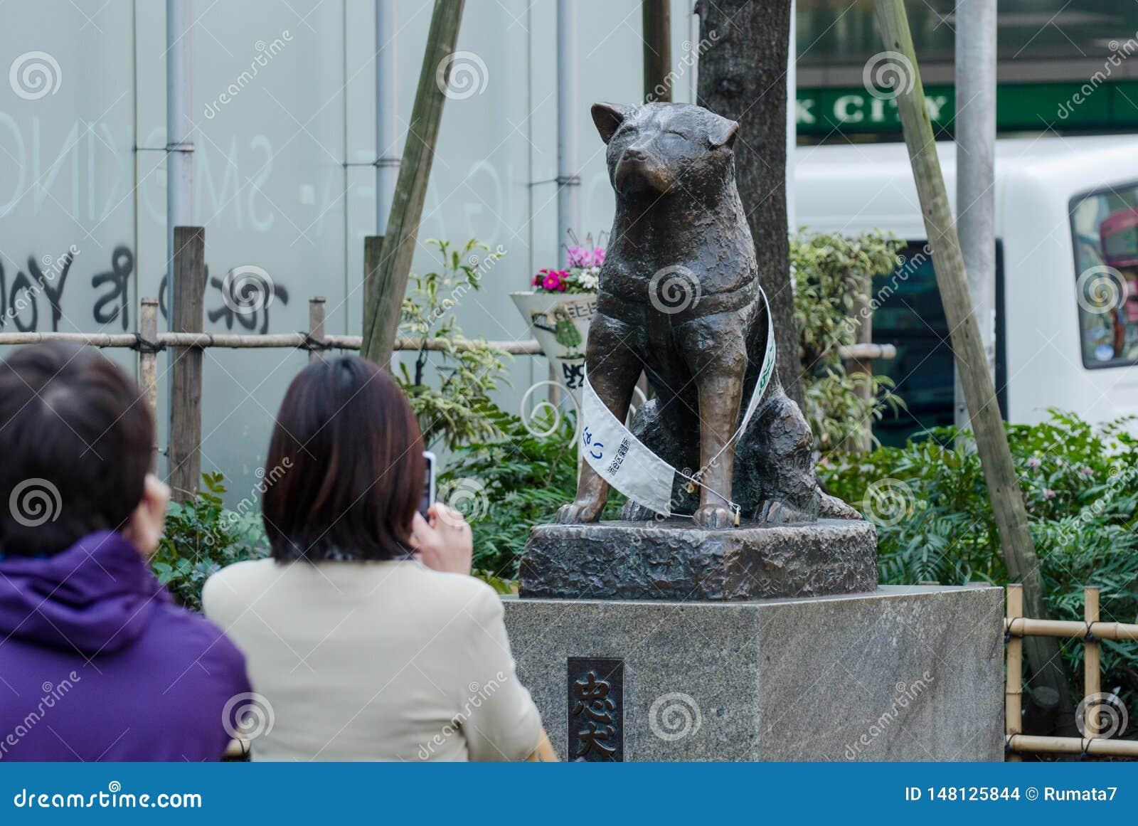 Estatua de Hachiko cerca de la traves?a de Shibuya