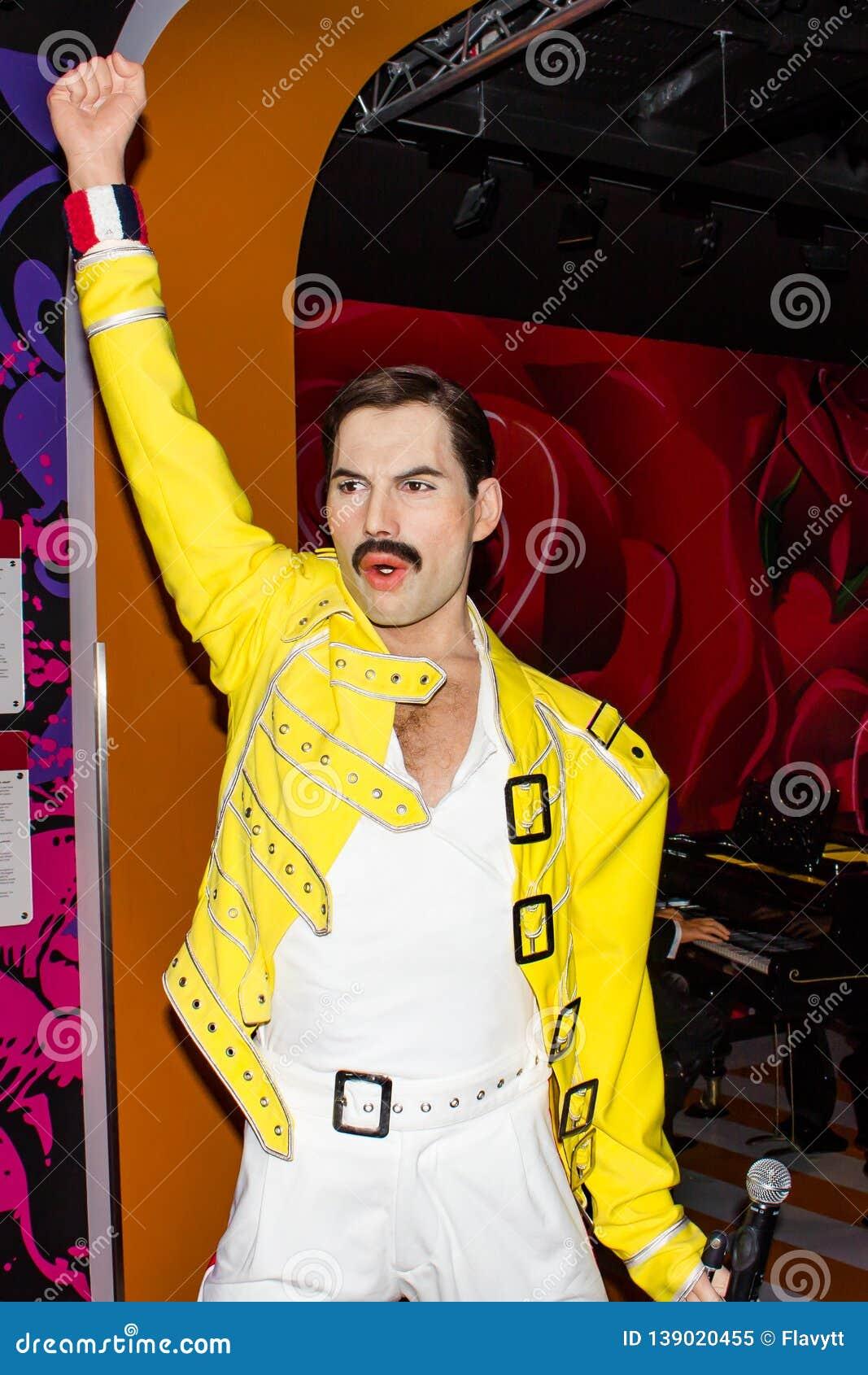 Estatua de la cera de Freddie Mercury, Museum Viena de señora Tussaud