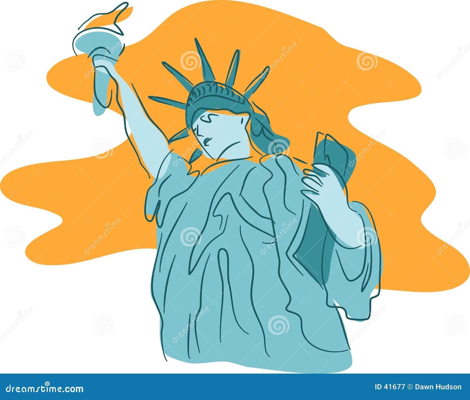 Download Estatua de la libertad ilustración del vector. Ilustración de gráficos - 41677