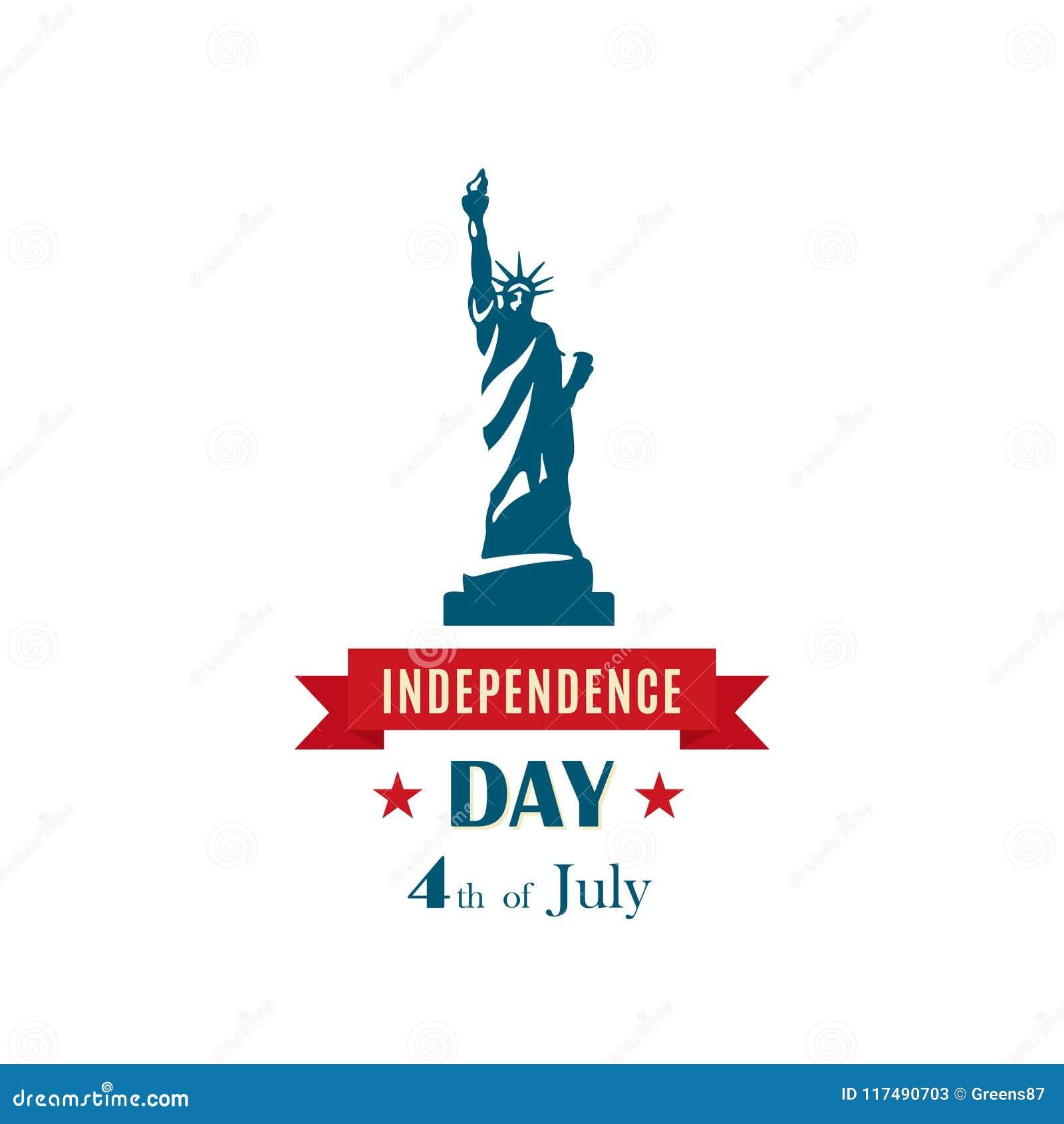 Estatua de la libertad para el 4 de julio, celebración los E.E.U.U. del Día de la Independencia