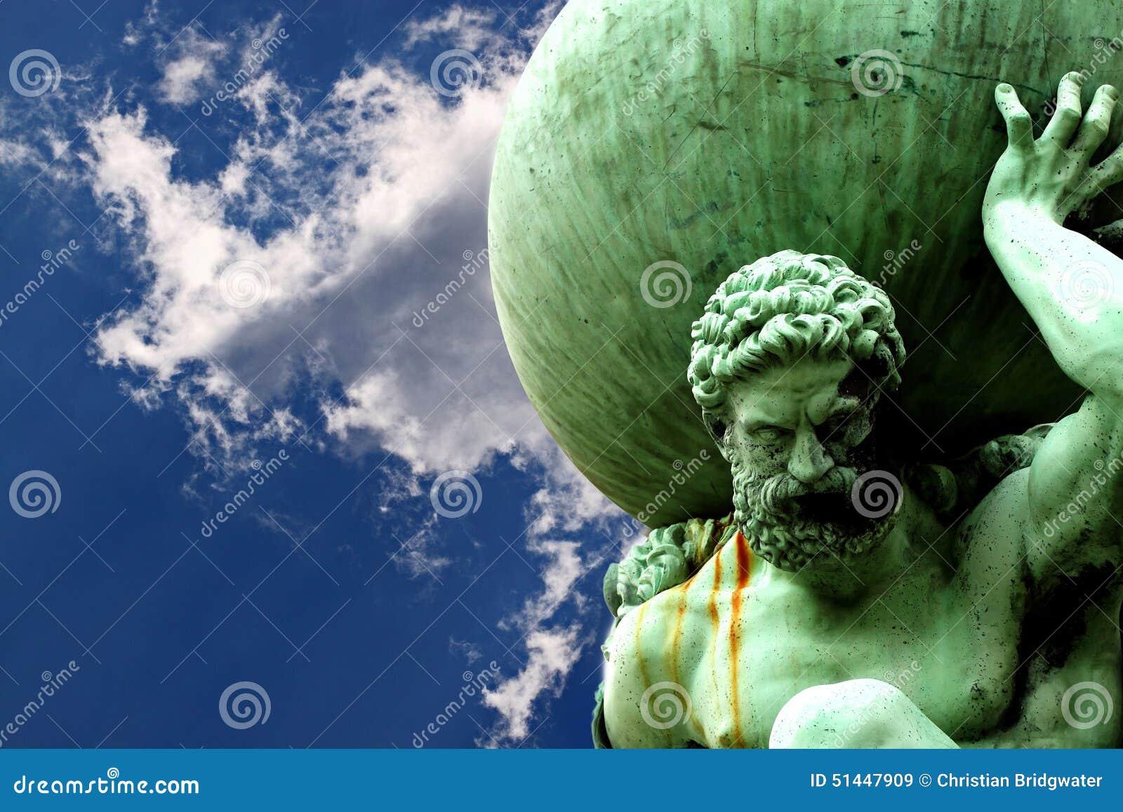 Estatua de la nube A del atlas