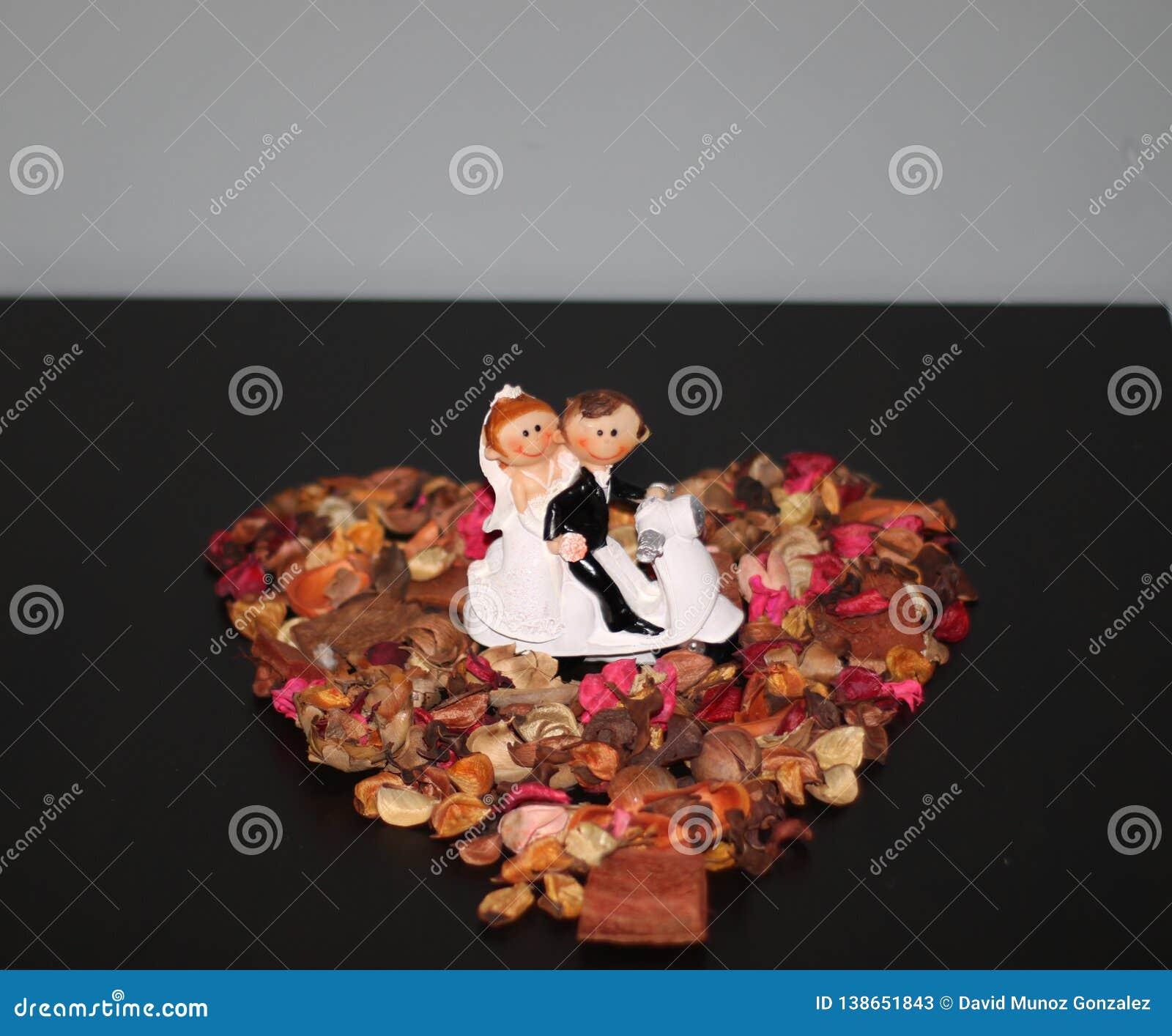 Estatua de la pareja de matrimonios Married
