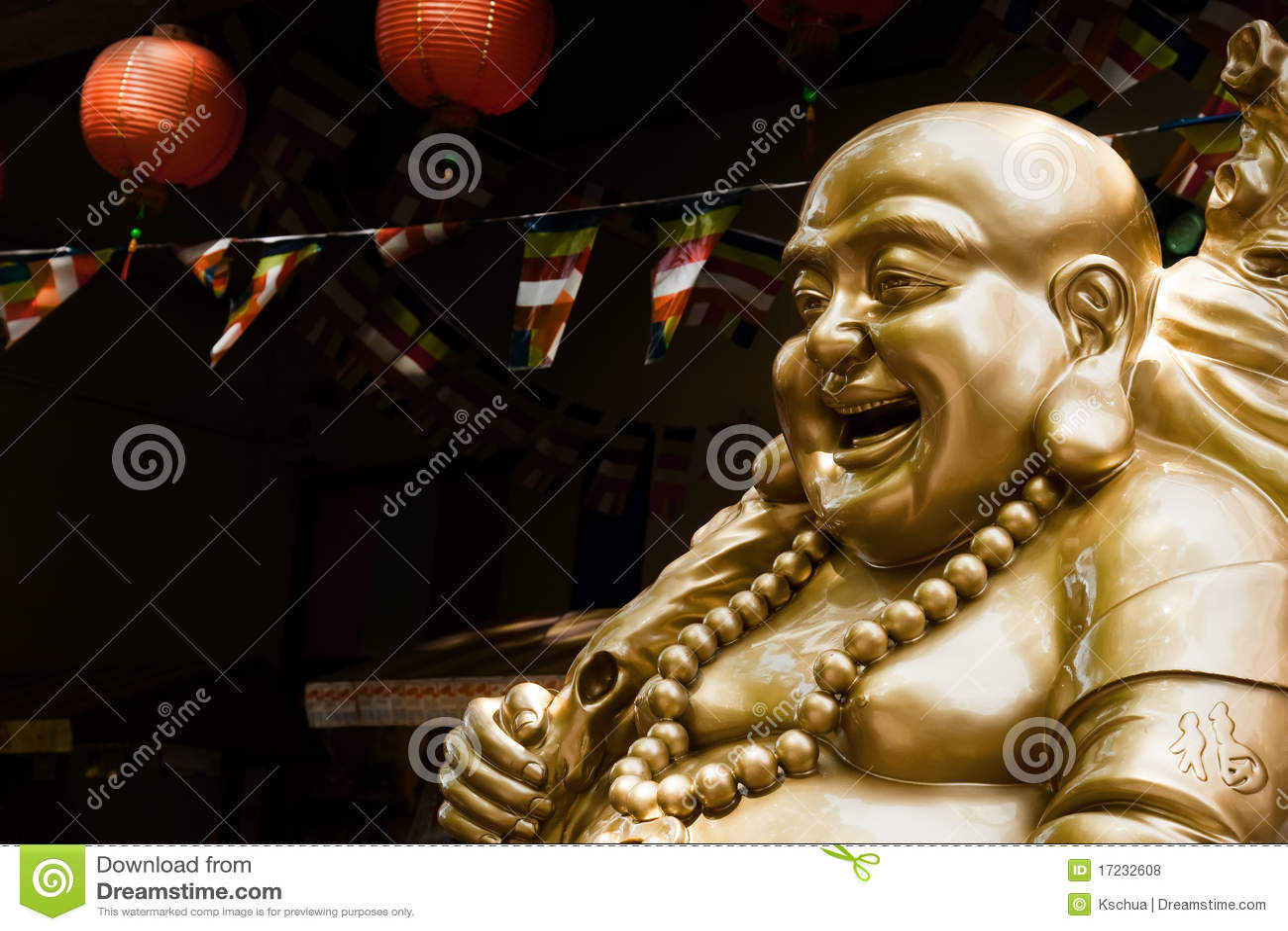 Estatua de reír a Buddha