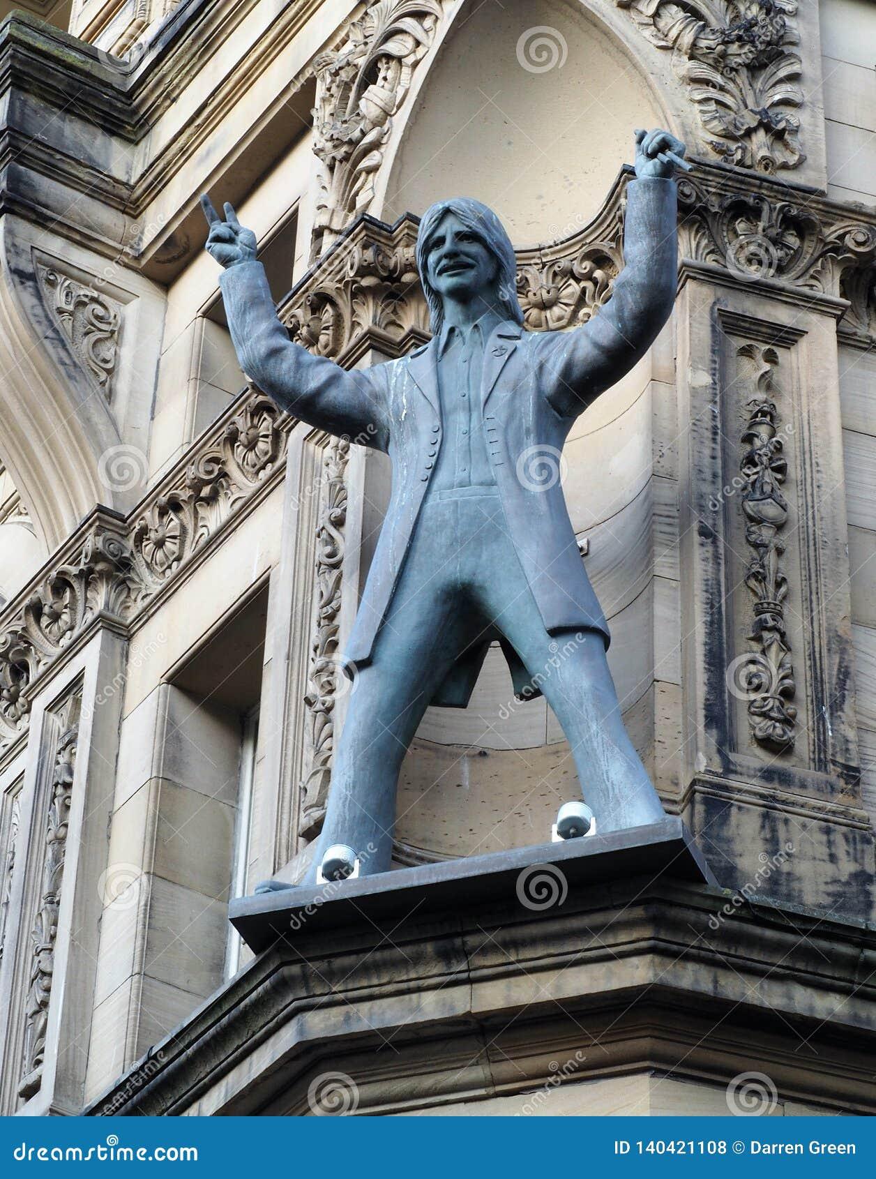 Estatua del batería Ringo Starr, Liverpool de Beatles