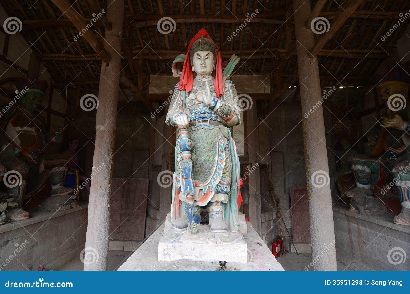 Estatua del bodhisattva de Skanda