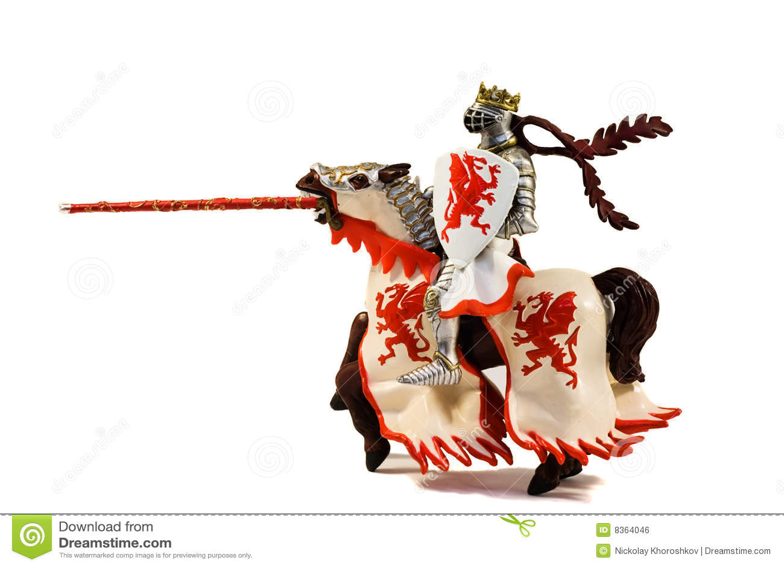 Estatua Del Caballero Acorazado Del Jinete Con La Lanza En Caballo ...