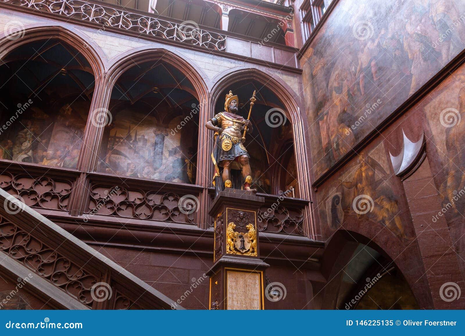 Estatua del fundador de Basilea, Suiza