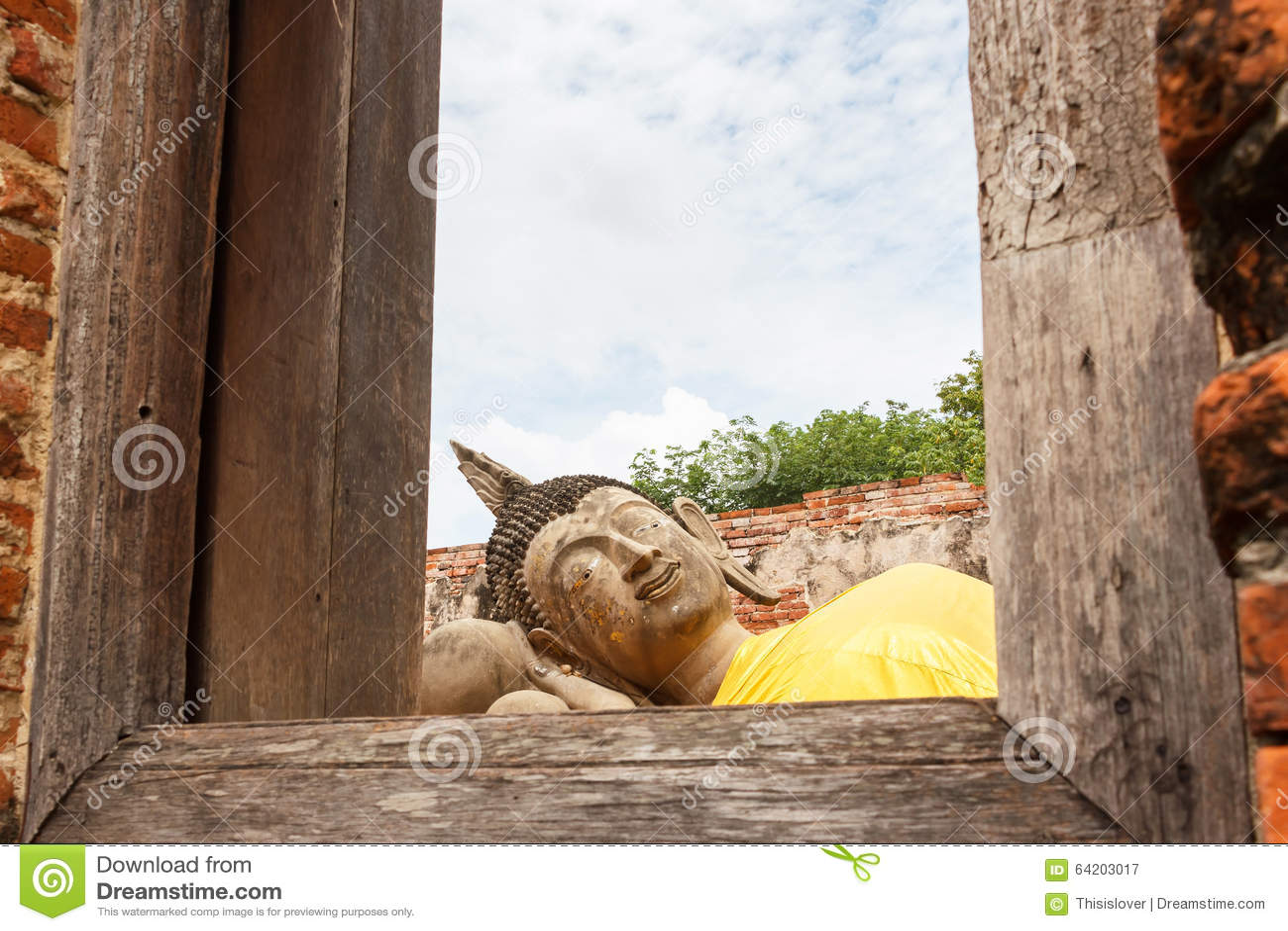 Estatua el dormir Buddha