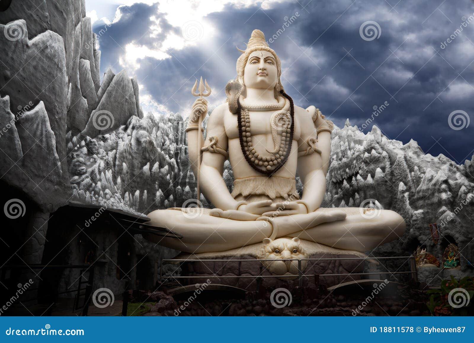 Estatua grande de señor Shiva en Bangalore