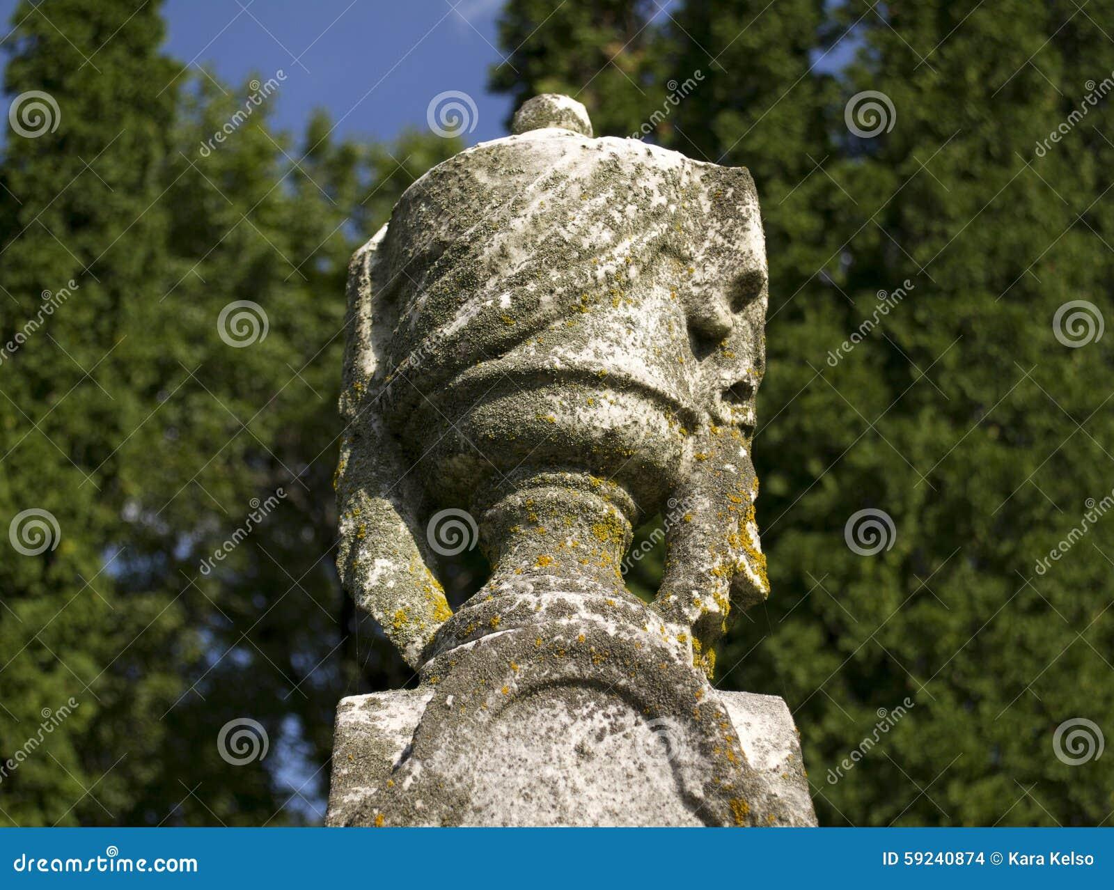 Download Estatua Vieja De La Lápida Mortuaria De La Urna Foto de archivo - Imagen de estatua, viejo: 59240874