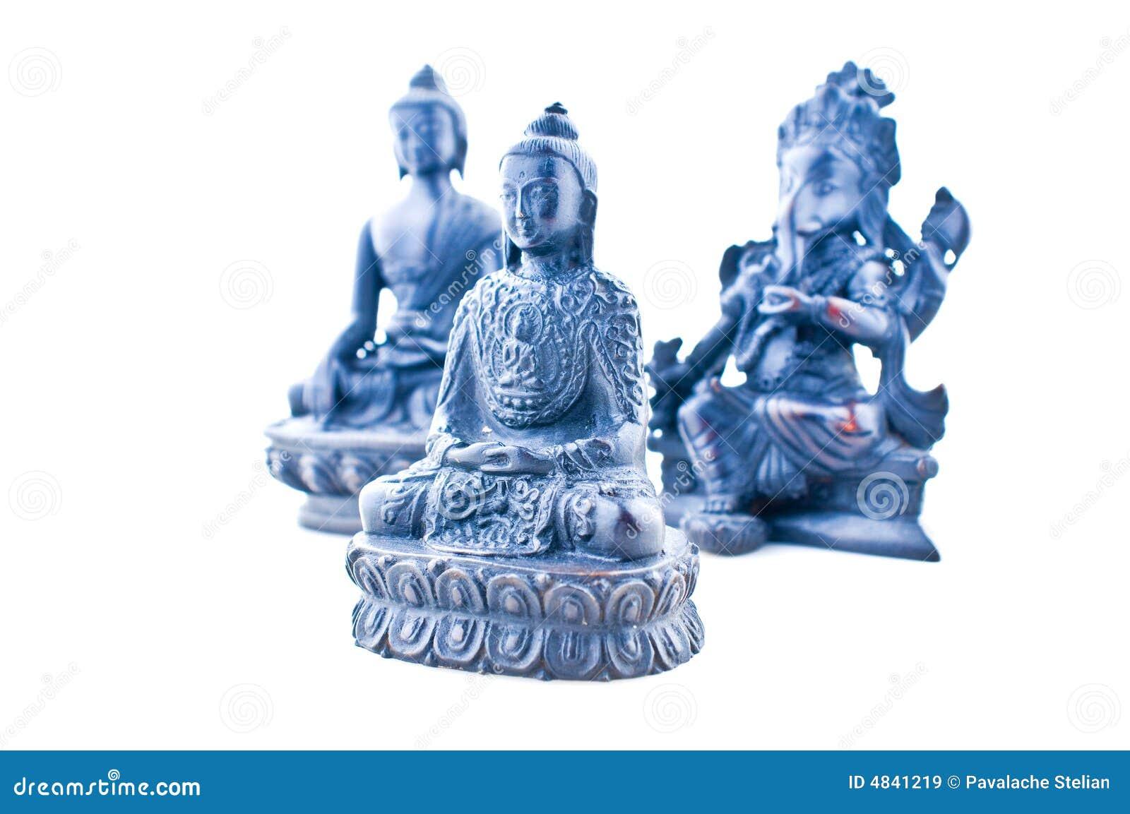 Estatuas asiáticas de dioses