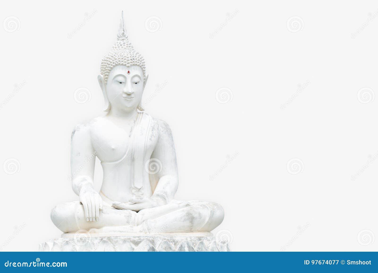Estatuas blancas de Buda