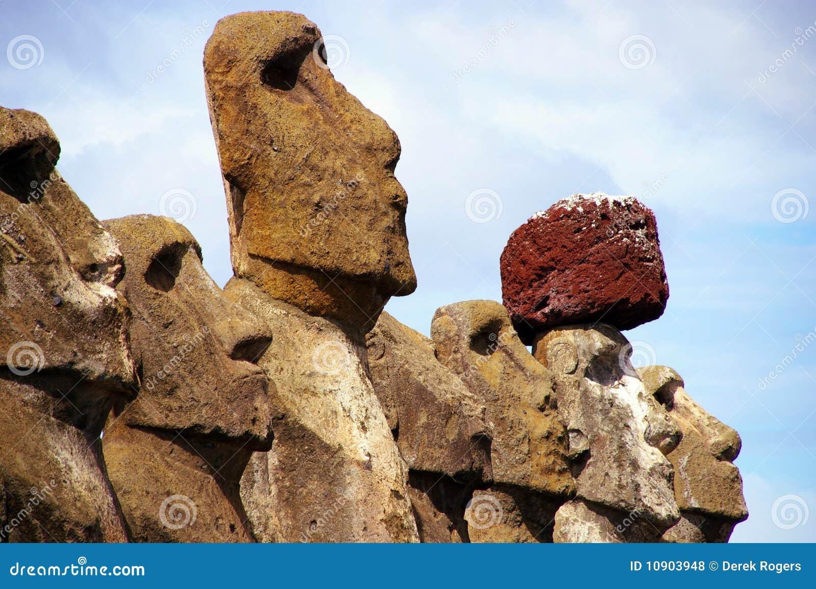 Estatuas Tongariki de la isla de pascua