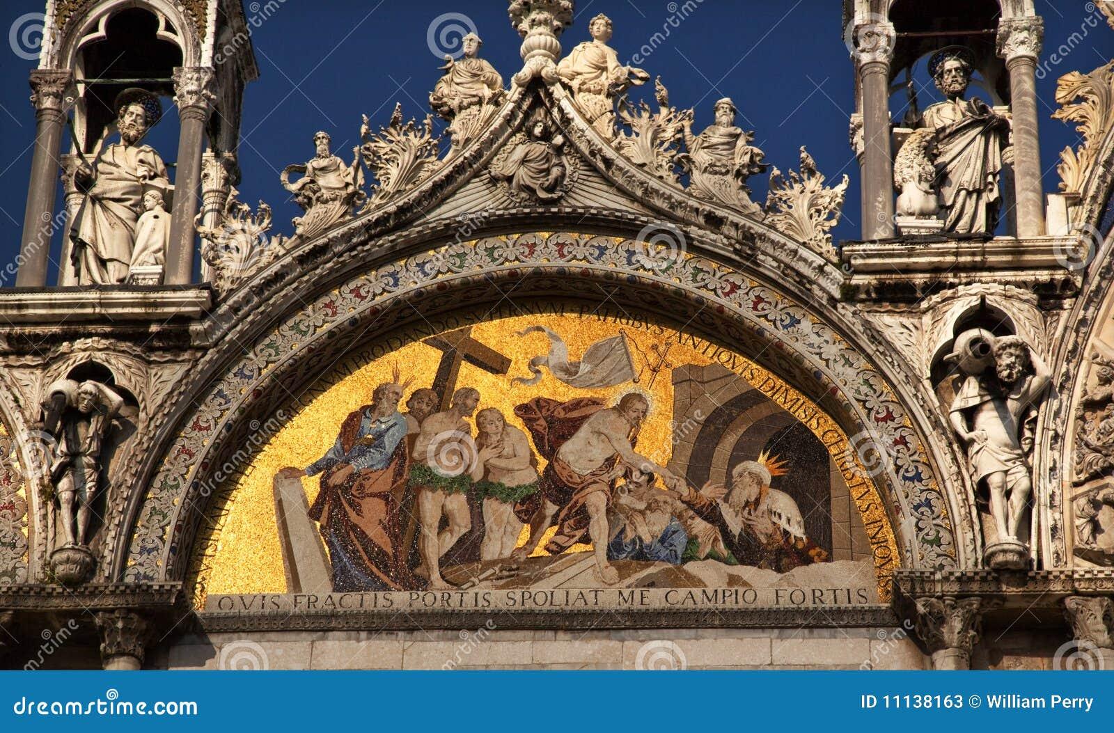 Estatuas Venecia Del Mosaico De La Basílica De San Marcos Imagen de ...