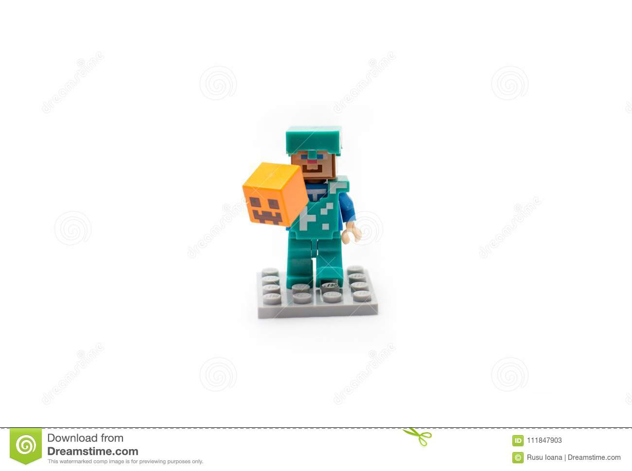 Estatueta De Minecraft Steve Foto De Stock Editorial Imagem De